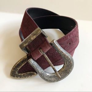 Accessories - Vintage Paulith 299 Suede Leather Belt M
